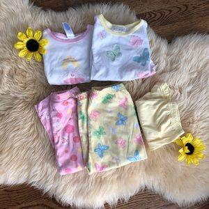 🦄Set of two toddler girls pajamas